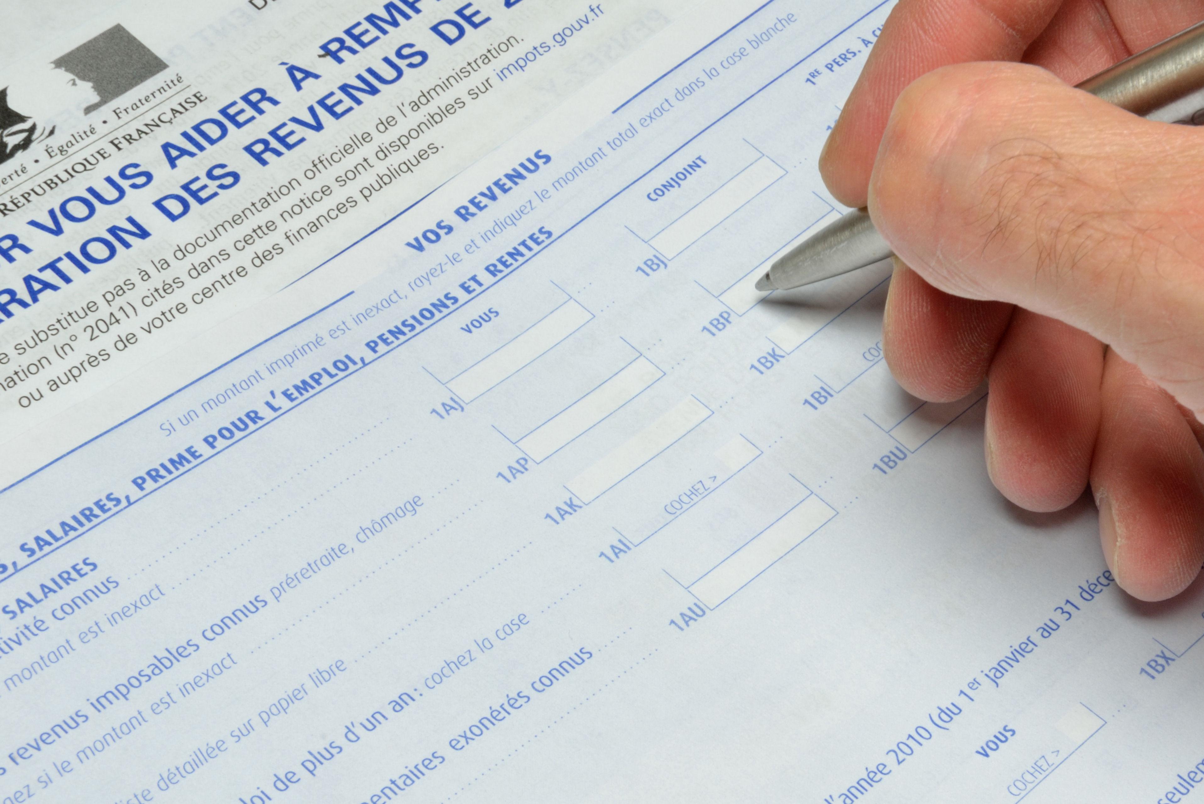 formulaire déclaration revenus